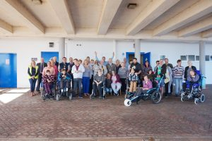 The official opening of the Changing Places toilet in Paignton seafront