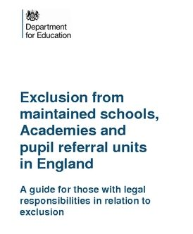 Statutory guidance on school exclusions